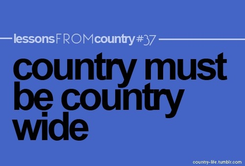 country wide!