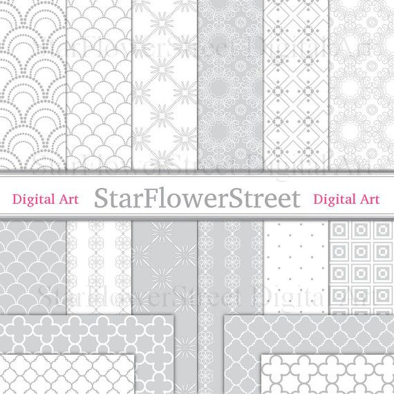 Lace Digital Paper in Soft Pale Gray  by StarFlowerStreetDA