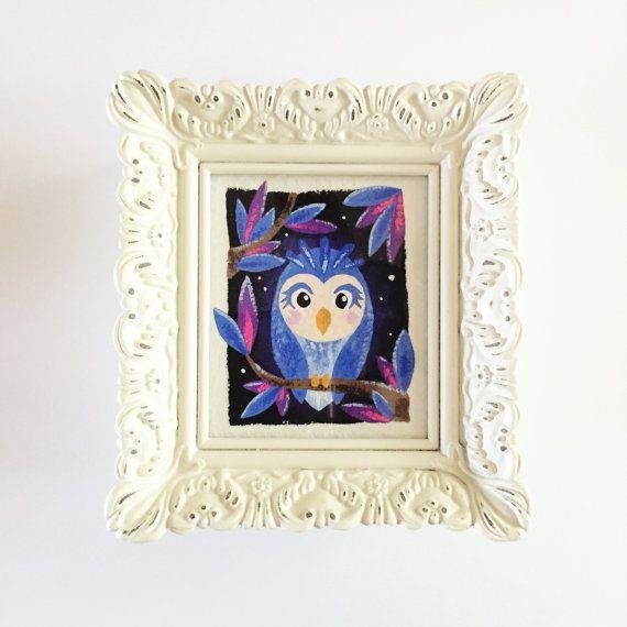 ORIGINAL Mini Owl Painting