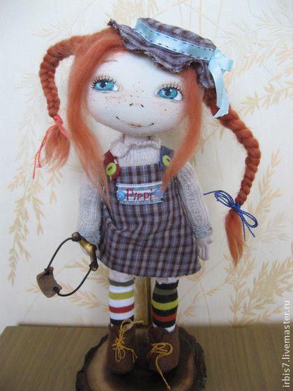 Коллекционные куклы ручной работы. Ярмарка Мастеров - ручная работа Пеппи - длинный чулок. Handmade.
