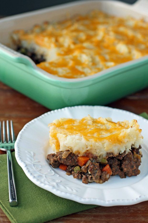 This lightened up Cottage Pie (Beef Shepherd's Pie) is a quintessential comfort food. Just 358 calories or 9 Weight Watchers SmartPoints per serving! www.emilybites.com