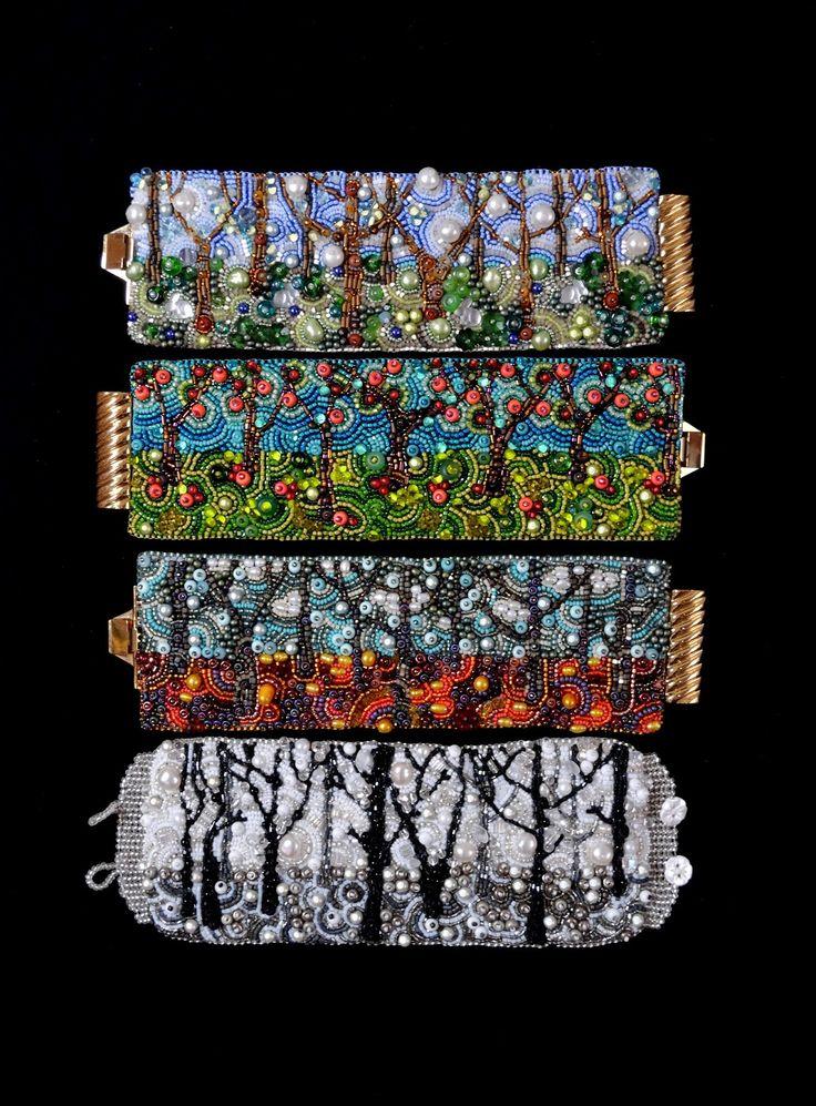 Four Seasons collection. /Crimson Frog Designs by Kinga Nichols