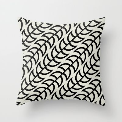 Beanstalks Black Throw Pillow by House of Jennifer - $20.00