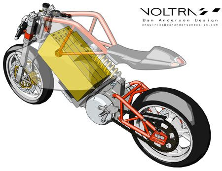 electric motorcycle | Voltra Electric Motorcycle by Dan Anderson | Tuvie