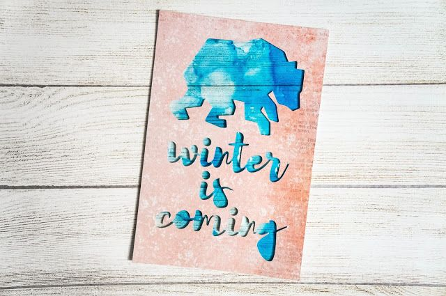 Clean and simple winter cards with bears