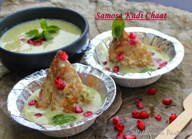 Ribbon's to Pasta's: Samosa Kadi Chaat