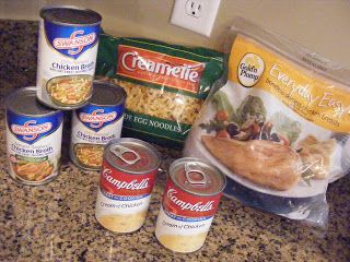My favorite Chicken and Noodles recipe, I add onions, celery, and carrots too!