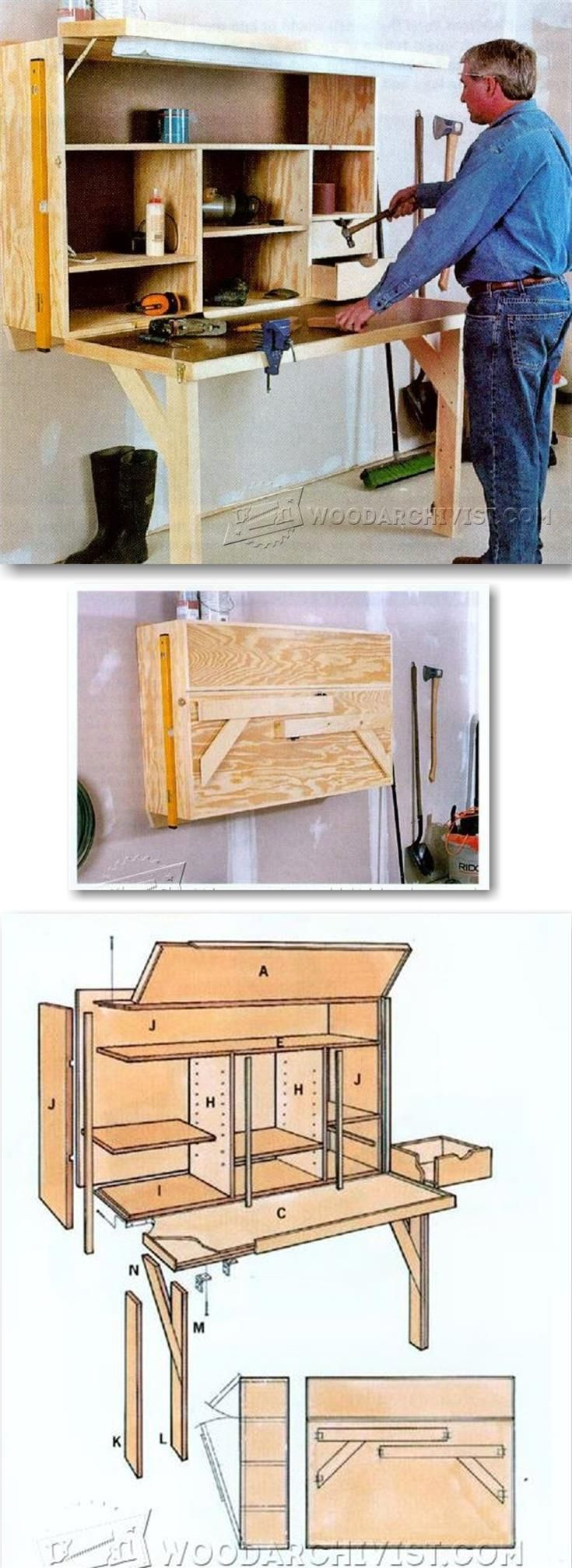 Fold Down Workbench Plans - Workshop Solutions Projects, Tips and Tricks | WoodArchivist.com