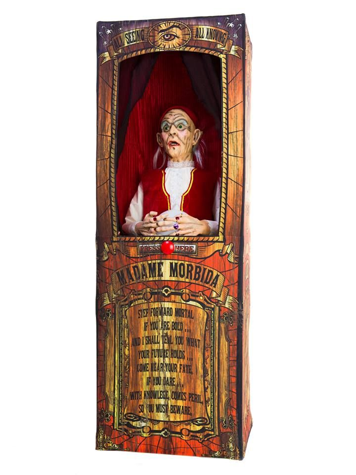 misfortune teller animated halloween event prop decoration you always need a fortune teller around