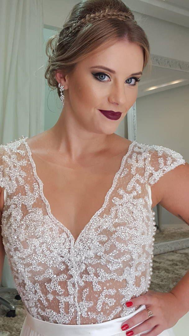 62d384056 Vestido de Noiva Bordado Solaine Piccoli em 2019 | Vestido de Noiva ...