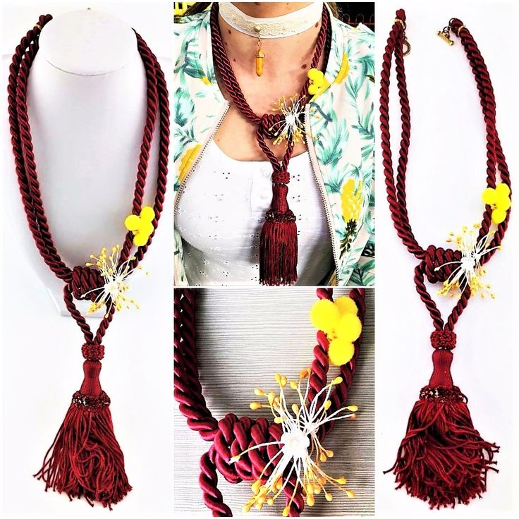 'TERRA YELLOW' HAND DECORATED (RE-USED PIECES) NECKLACE