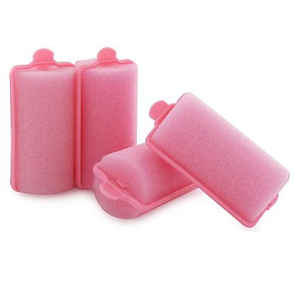 Pink Hair Rollers. Years later, they made them in black! We use to wrap brown paper bags around the sponge to keep it from pulling our hair out!!