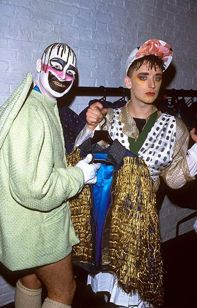 Boy George and Leigh Bowery