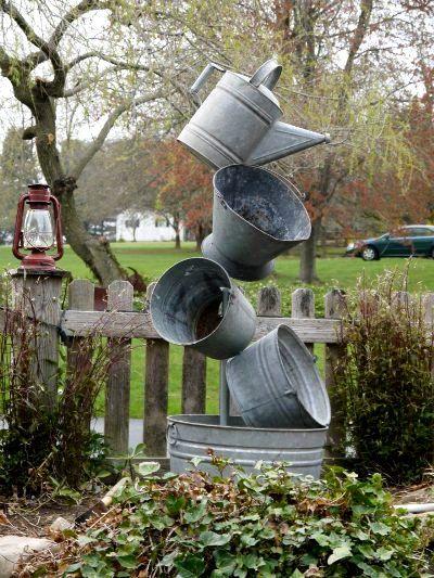 Annie's Galvanized Tipsy Pots :: Hometalk