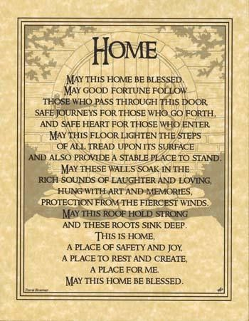 """Home Blessing poster 8 12"""" x 11""""."""