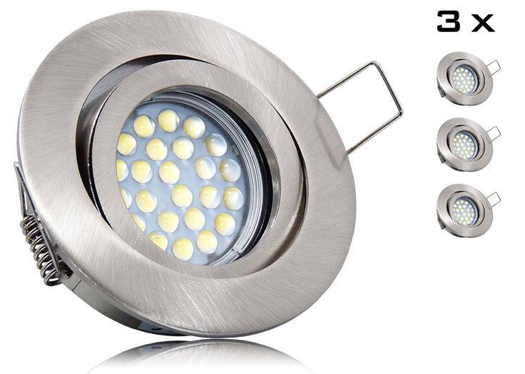 Perfect er LED Einbaustrahler Set mit Marken GU LED Spot LC Light Watt Alu Druckgu