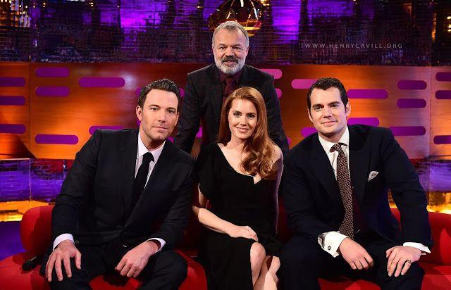 Henry Cavill, Ben Affleck and Amy Adams - Graham Norton Show via Henry Cavill News