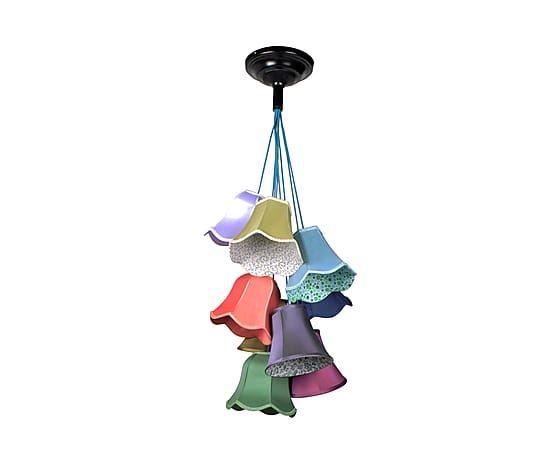 Lampadario in tessuto multicolor Granny Lace Color - d 50 cm