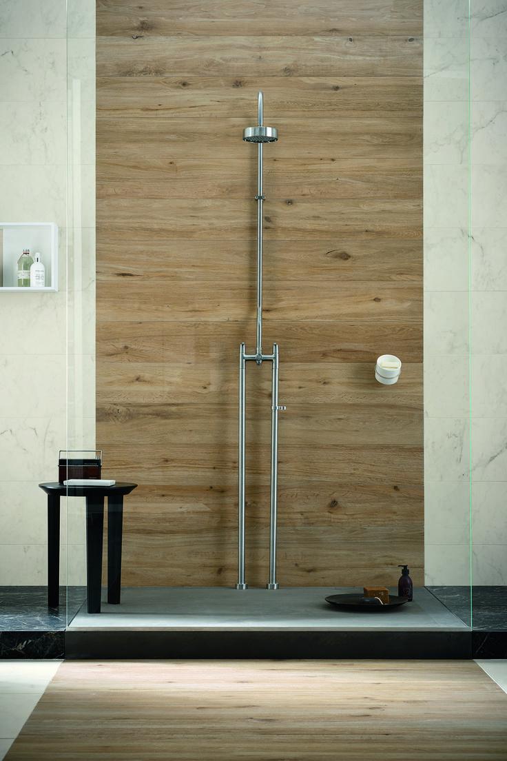 #Marazzi | #Treverktrend | #floor | #bathroom | #woodtiles | #andreaferrari | #allmarble | #walls | #shower