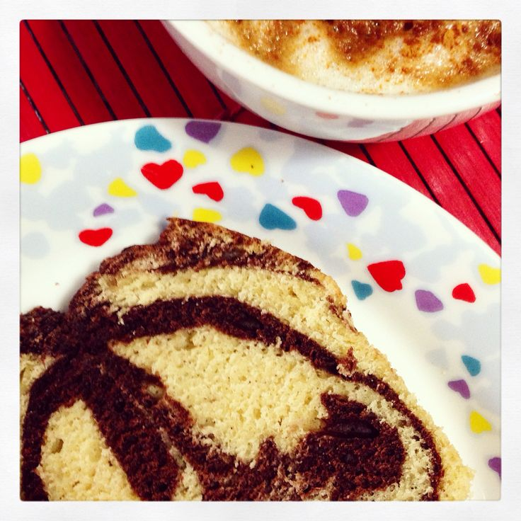 Plumcake chocolate & vanilla without butter