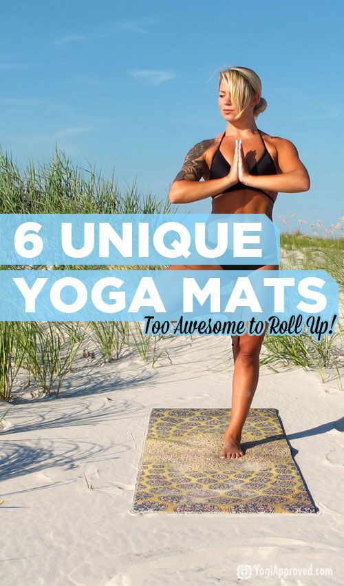 These 6 unique yoga mats are so cool, you'll never want to roll them up