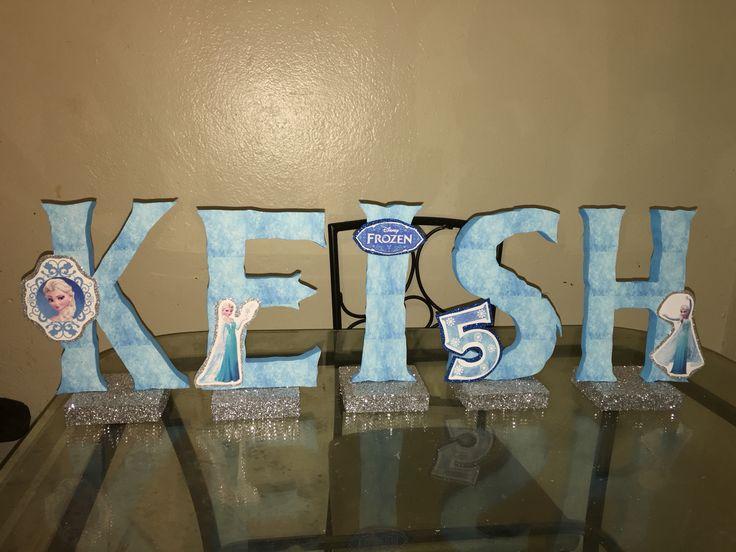 Queen Cake Decoration Letters : Frozen Elsa name letters birthday cake table decoration ...