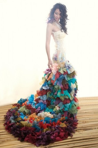 This wedding dress is fantastic! I never considered lots of color before but WOW!