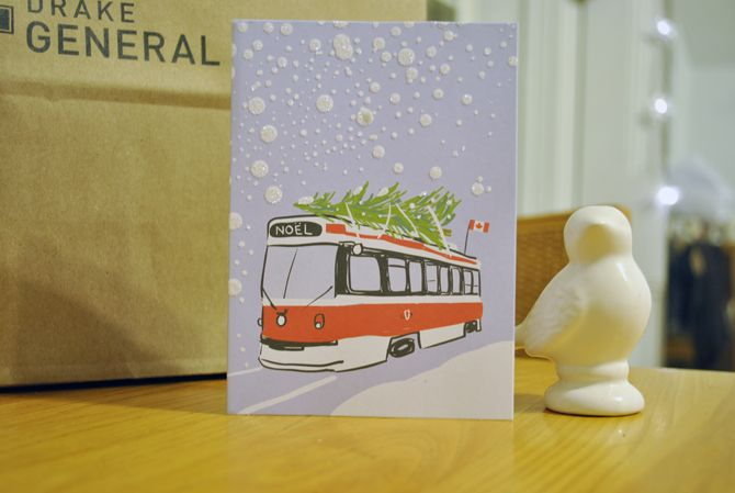Love these Christmas in Toronto streetcar cards by Paper E. Clips from the Paper Place. via metamorphocity.com