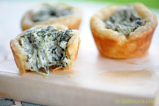 2 easy spinach appetizers....they are easy and delicious!