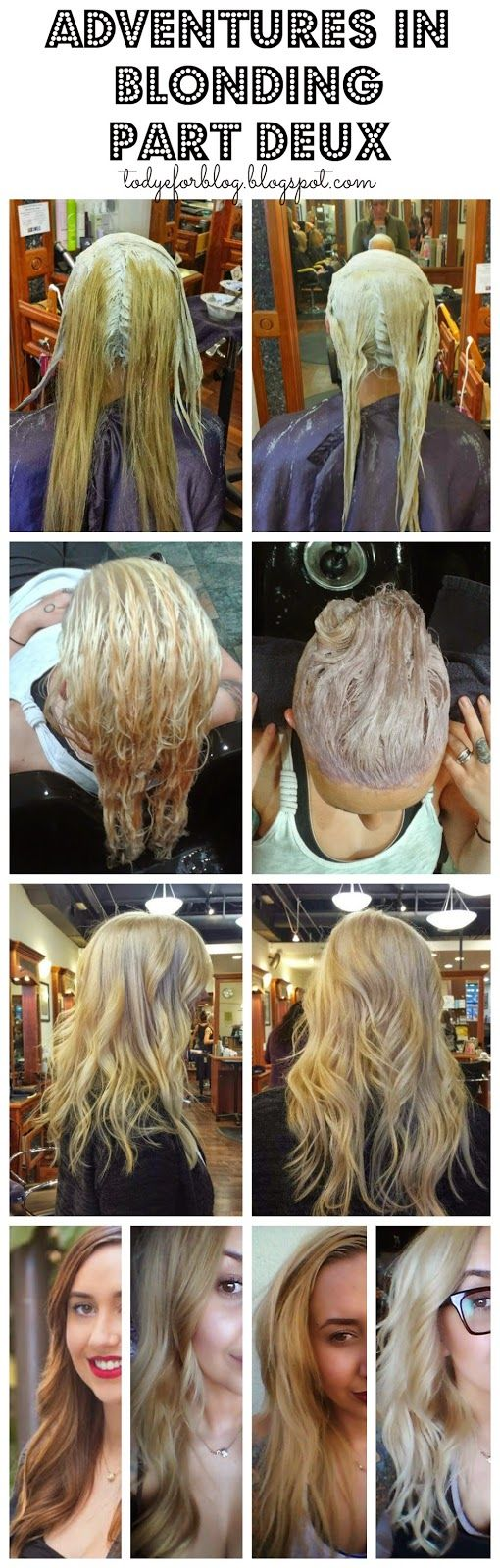To Dye For Adventures In Blonding Part Deux See One Hairstylist Go From Dark Brown To Blonde