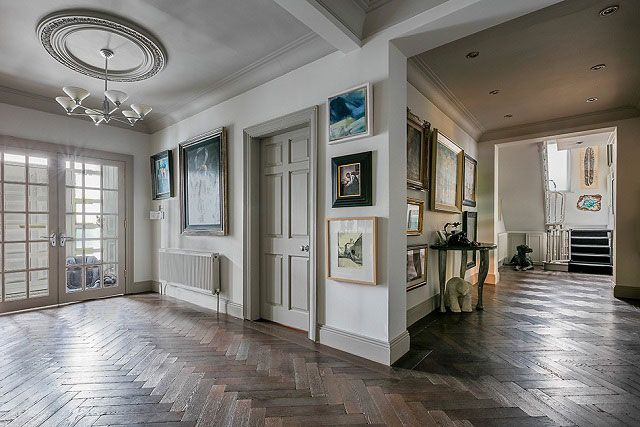 Bespoke, luxurious solid parquet wood floors from TileStyle pictured in clients home. Click the photo to see more of this impressive home...