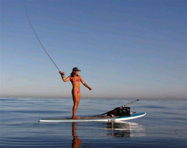 Stand Up Girls. Sup woman fishing. Fly fishing off your SUP. Glassy Paddle. SUP ocean fishing. Hot SUP girl.   2 Stand Up Guys Paddle Board Lessons & Sales 1701 Tamarack Ave Carlsbad, Ca 92008 (347)489-3926
