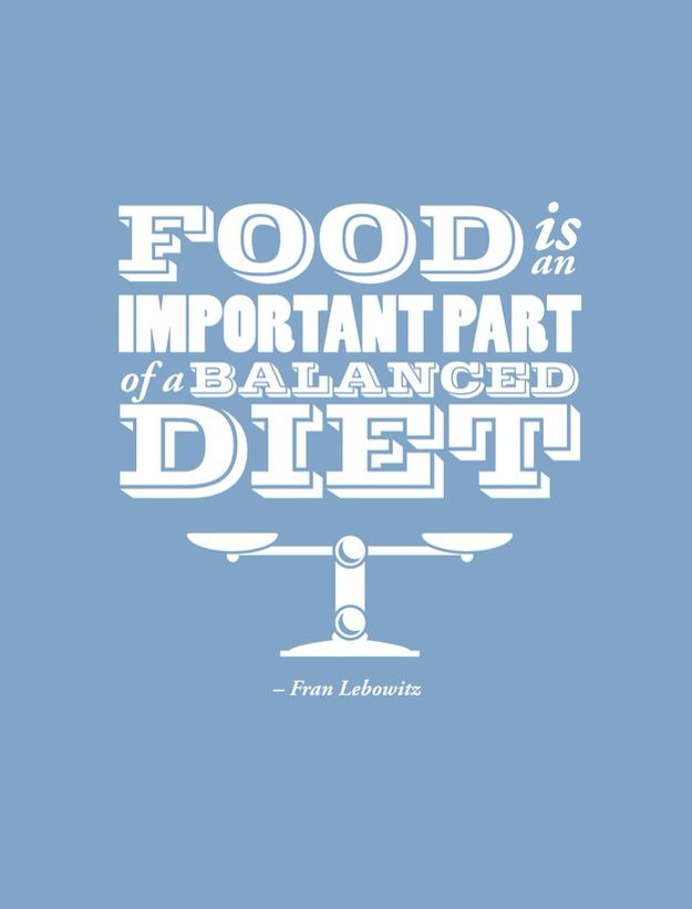 Food is important..