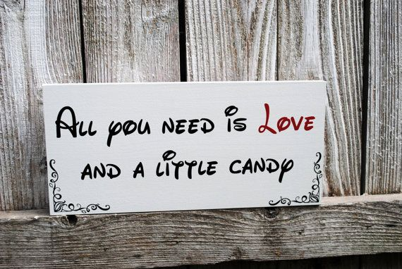 All you need is Love and Candy Sign Disney Themed Wedding Candy Buffet Sign on Etsy, 178,81 kr