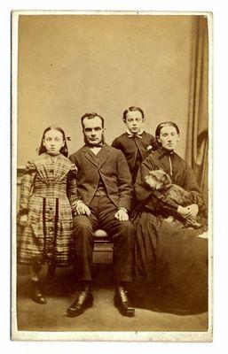 John Traill and family with Greyfriars Bobby