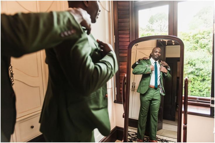 green wedding suits