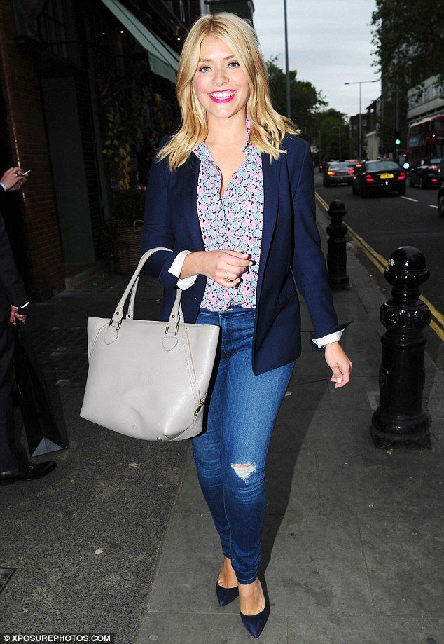 Summer florals: Holly Willoughby, 35, and husband Dan Baldwin managed to carve out time fo...