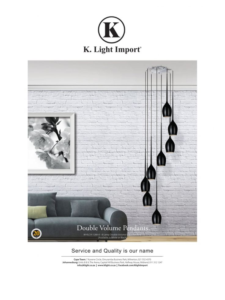 <p><b>Double Volume Pendants</b><br />  Garden & Home<br />  House & Leisure<br />  Conde Nast House & Garden<br />  Real Estate and Habitat</p>