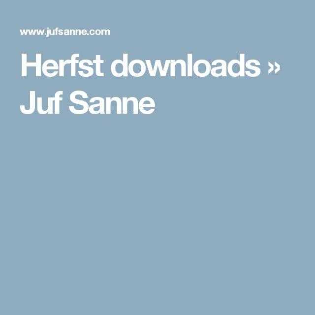 Herfst downloads » Juf Sanne