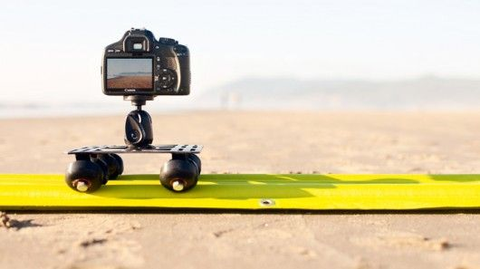 AirTracks is a lightweight, inflatable video slider that supports up to eight pounds.