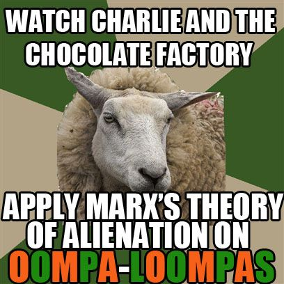 Oompa Loompas represent minorities such as different races and are given the labor jobs instead of capitalist positions. Because they are the minorities they get the shit job.