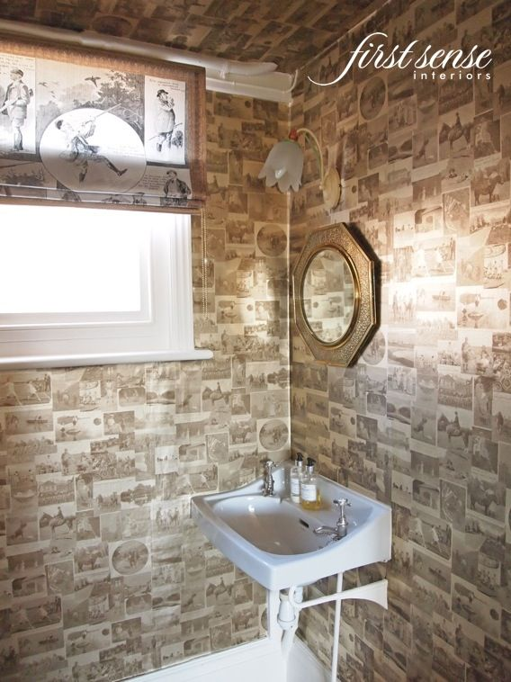 Wallpapered Cloakrooms (powder Rooms). White BathroomSmall ... Part 89