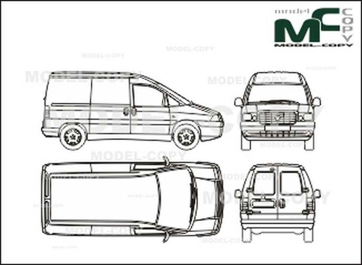 Fiat Scudo box car, shorter wheelbase, 1 sliding door ...