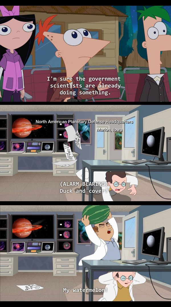 Phineas and Ferb on Government Solutions omg!! @Caitlyn Cagle MY WATERMELON!!!!