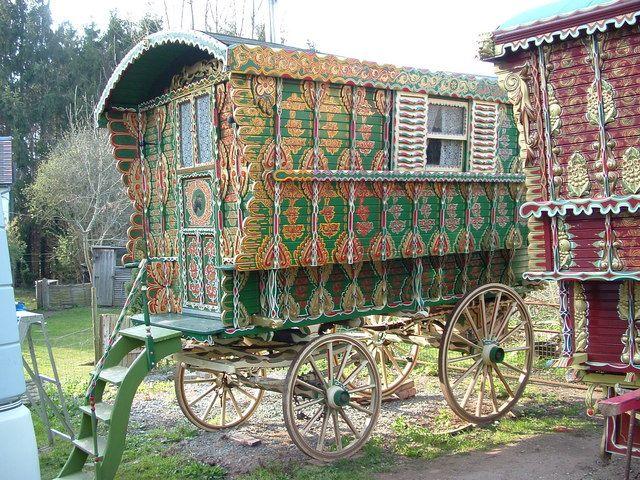 100 year old caravan