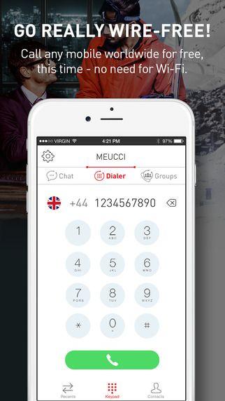 Meucciの特徴の一つが、このGSMを使ったグループコール。仮に相手がMeucciのアプリをインストールしていなくても、相手の電話番号さえわかれば大丈夫。相手がアプリを持っていない場合はSMS経由で専用リンクが送られ、相手はそれをクリックすることでコールに参加することができる仕組みです。  通話の参加者全員がアプリをインストールしていれば、GSMを使ったグループコールを含む全てが無料。アプリをインストールしていない相手にはGSM経由で繋がるため、携帯電話会社に対して通常の通話料金が発生します。仮に相手が海外にいる相手でも、国際電話ではなく国内電話の料金が発生するのみ。