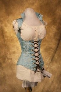 Light Blue Vixen Corset CUSTOM. Not that I'd ever have an occasion to wear it, but it's lovely.
