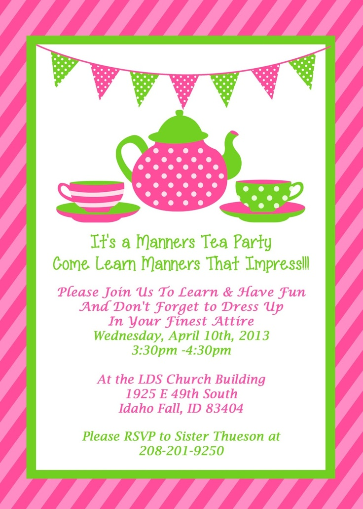 tea party birthday invitations kinderhooktap com
