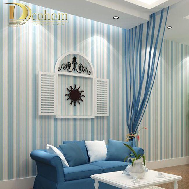 Die besten 25+ blau gestreiften Wände Ideen auf Pinterest - farbgestaltung wohnzimmer blau
