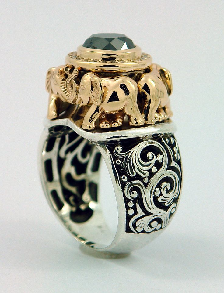 Amazing 3ct black diamond elephant ring 3 790 00 via etsy oh my